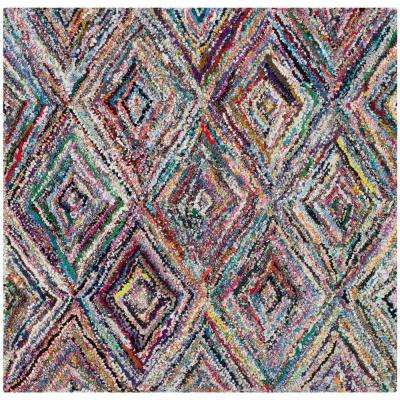 Nantucket Multi 4 ft. x 4 ft. Square Area Rug