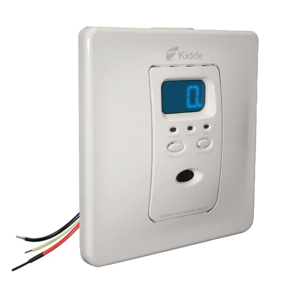 Hardwire Carbon Monoxide Detector with Self-Charging Battery Backup and Digital