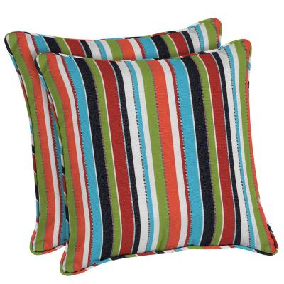 Sunbrella Carousel Confetti Square Outdoor Throw Pillow (2-Pack)