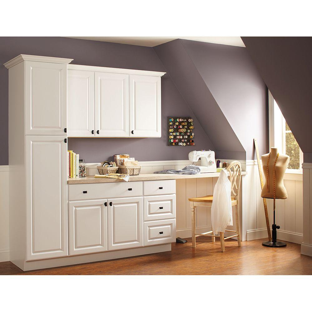 Hampton Bay Hampton Assembled 27x30x12 In. Wall Kitchen Cabinet In Satin  White