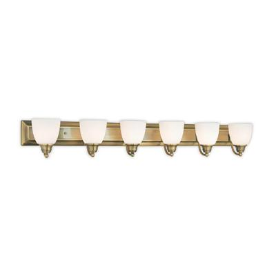Springfield 6-Light Antique Brass Bath Light