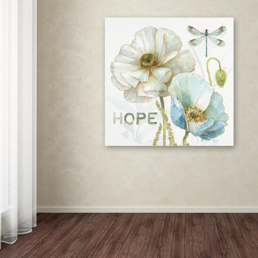 Trademark Fine Art 14 in. x 14 in. ''My Greenhouse Flowers