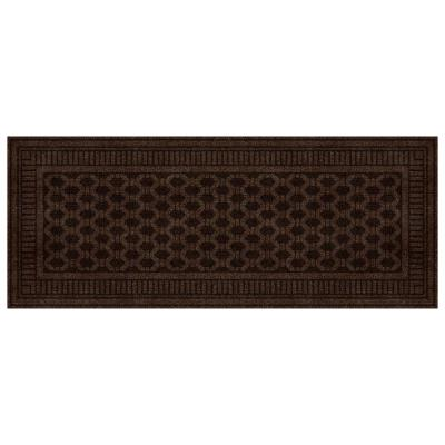 Embossed Mocha 2 ft. x 5 ft. Door Mat