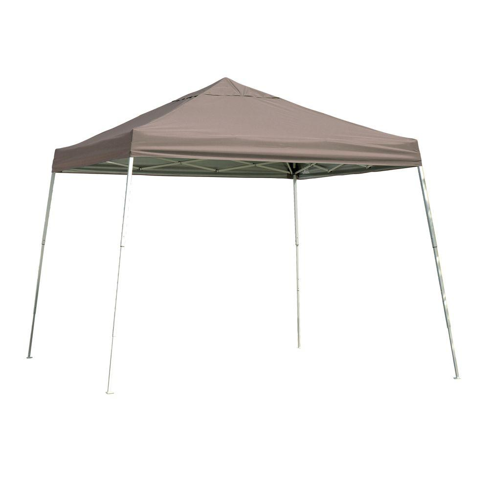 ShelterLogic Sports Series 12 ft. x 12 ft. Desert Bronze Slant Leg Pop-Up Canopy