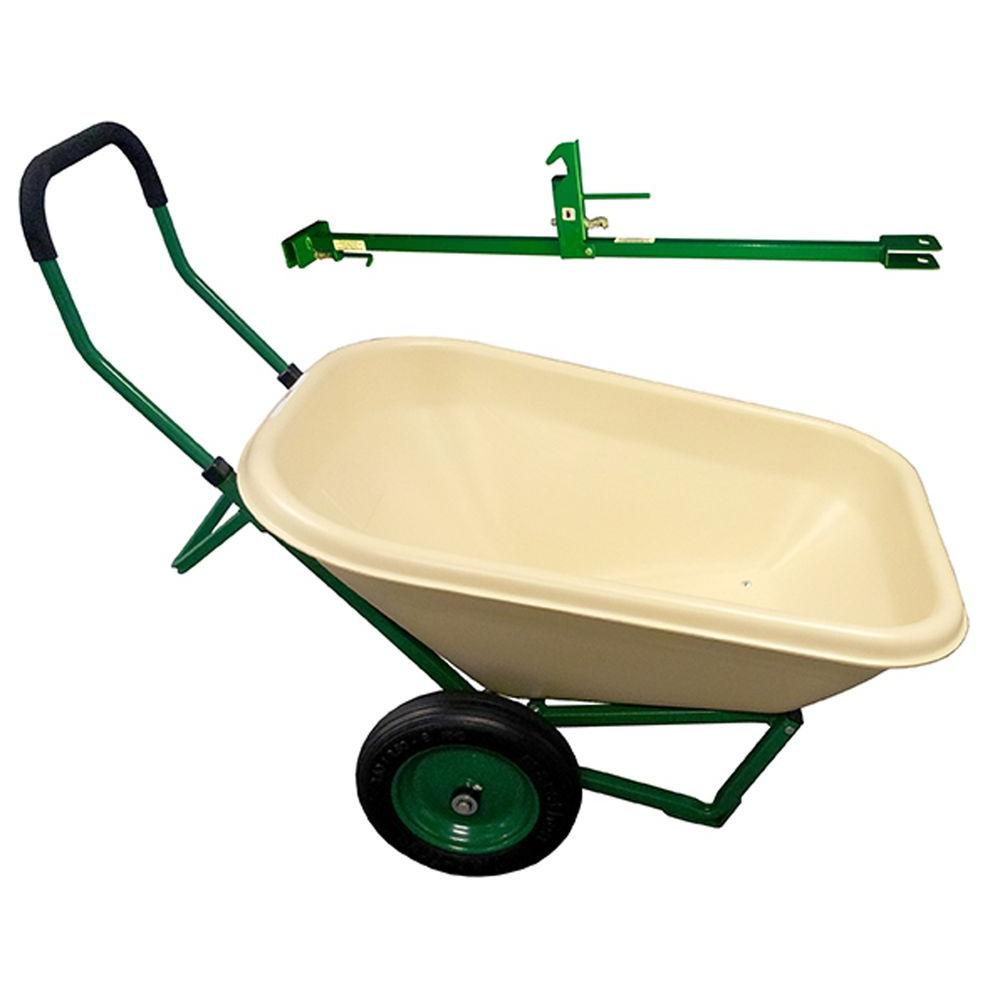watch self diy now with lawn made power wheelbarrow home propelled youtube cart garden lift