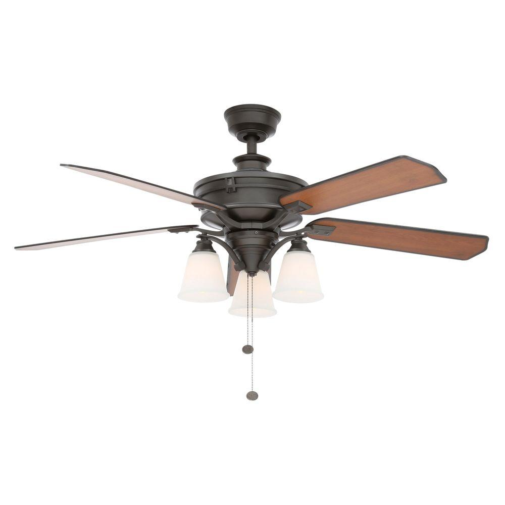 Beverley II 52 in. Indoor Natural Iron Ceiling Fan with Light