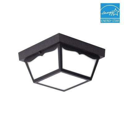 Matte Black Integrated LED Outdoor Flush Mount