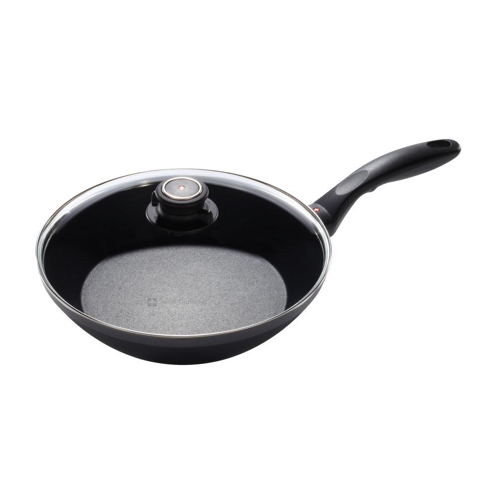 Swiss Diamond Nonstick Edge Stir Fry Pan with Lid