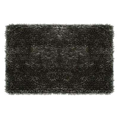 Mega Butter Chenille 27 in. x 45 in. Bath Mat in Charcoal