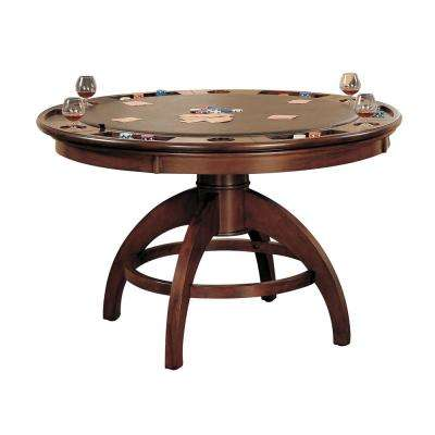 Palm Springs Game Table in Medium Brown Cherry