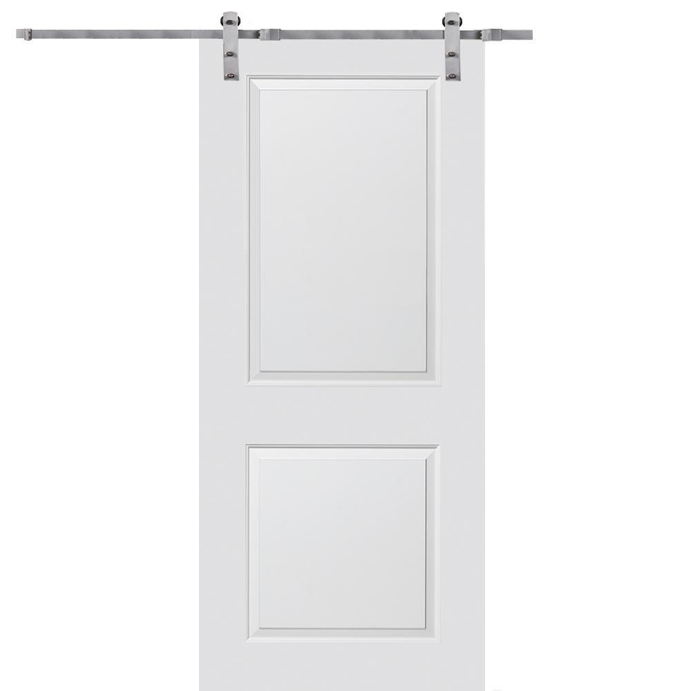 Mmi door 32 in x 80 in primed molded mdf carrara barn for 32 inch sliding barn door