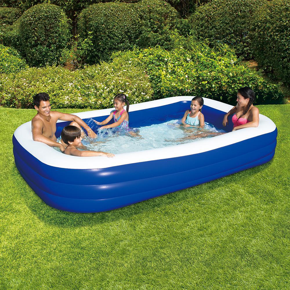 Blow Up Backyard/Outdoor Water Pool Family Rectangular ...