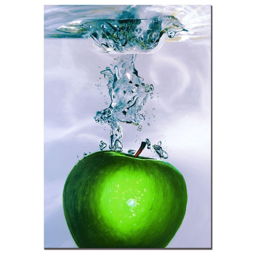 Trademark Fine Art 22 in. x 32 in. Apple Splash II by Roderick Stevens Canvas Art