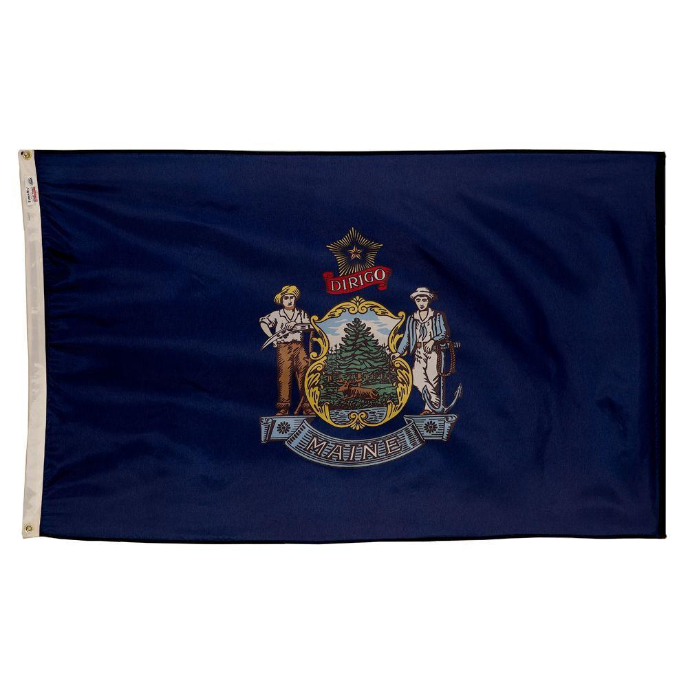 3 ft. x 5 ft. Nylon Maine State Flag