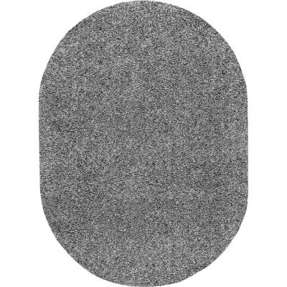 Marleen Plush Shag Gray 5 ft. x 8 ft. Oval Rug