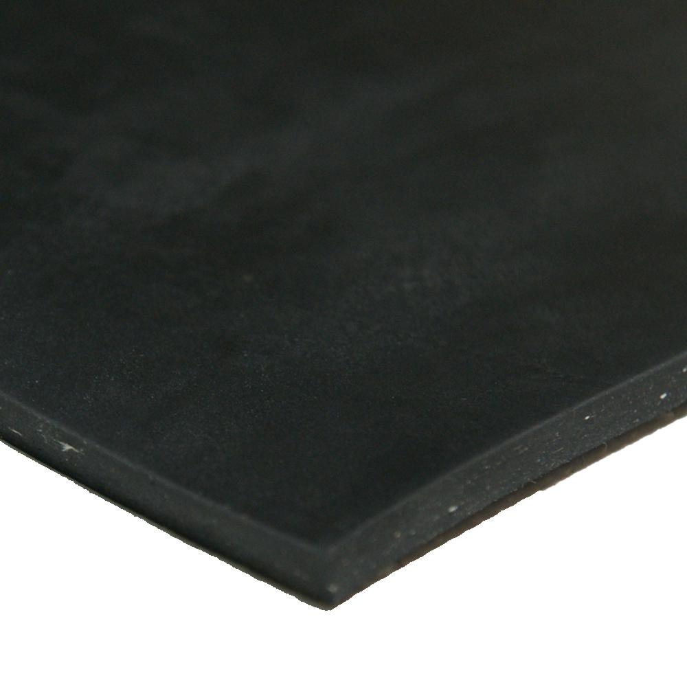 """1//16/"""" 1-Ply Cloth Inserted Neoprene Rubber Sheet 60A 36/""""x12/"""" Black"""