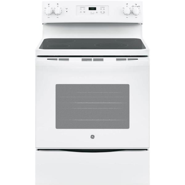 30 in. 5.3 cu. ft. Electric Range in White