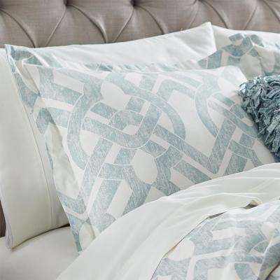 Waveland Green and Blue Euro Pillow Sham