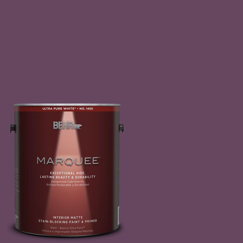 BEHR MARQUEE 1 gal. #MQ5-35 Plum Rich One-Coat Hide Matte Interior Paint