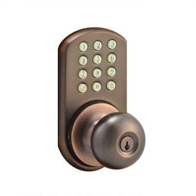 Oil-Rubbed Bronze Touch Pad Electronic Entry Knob