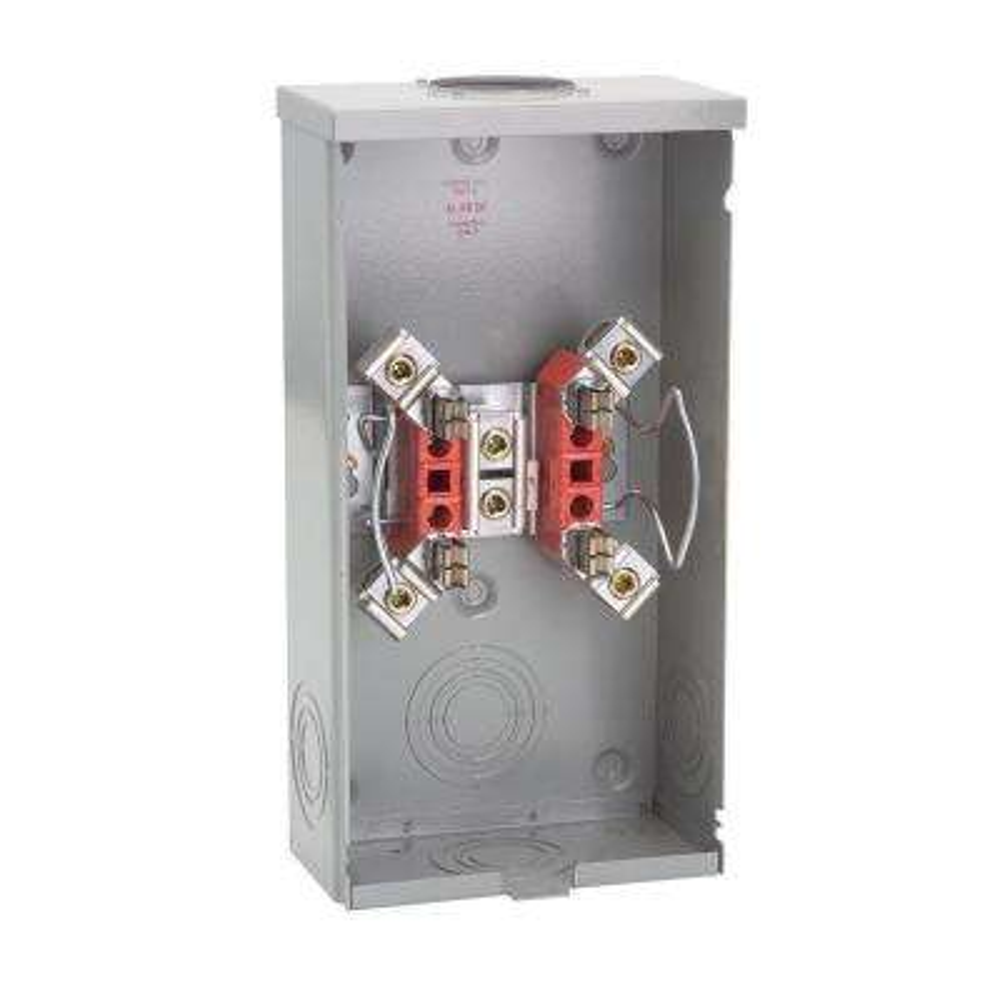 200-Amp 4 Terminal Ringless Overhead Meter Socket