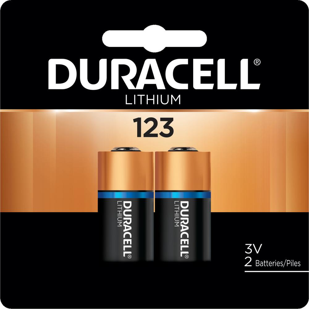 Duracell Coppertop HP 123 Lithium Battery (2-Pack)