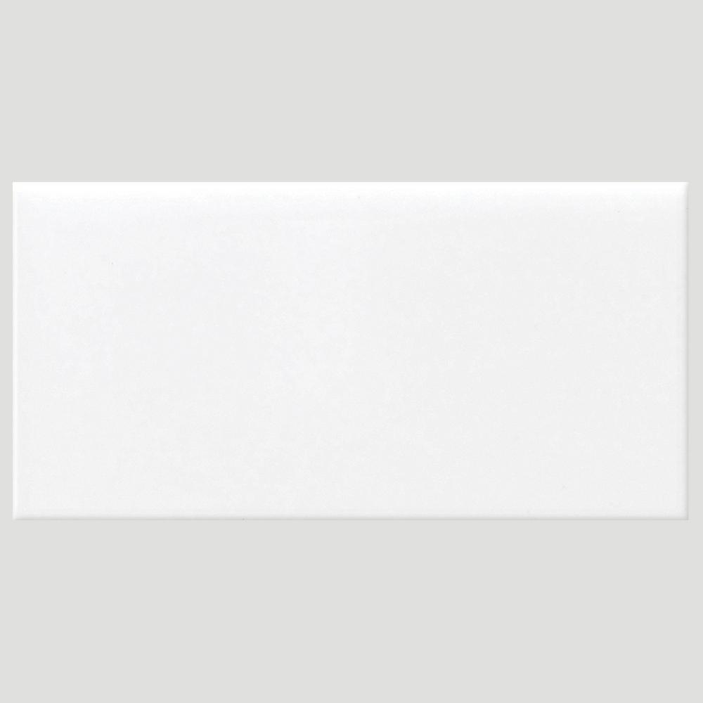 Daltile Finesse Bright White 3 in. x 6 in. Ceramic Wall Tile (12.5 ...