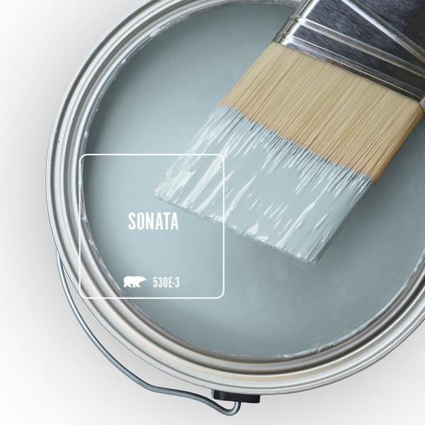 Reviews For Behr Marquee 5 Gal 530e 3 Sonata Satin Enamel Exterior Paint Primer 945005 The Home Depot