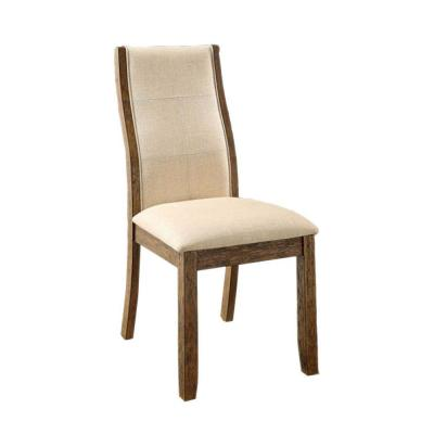 Onway Contemporary Oak and Beige Side Chair (Set of 2)