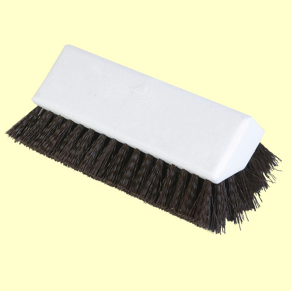 10 in. Floor Scrub Brush in White (Case of 12)
