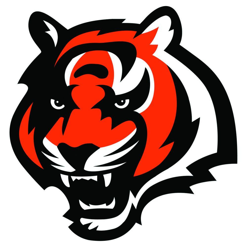 Fathead 39 in. x 40 in. Cincinnati Bengals Logo Wall Decal