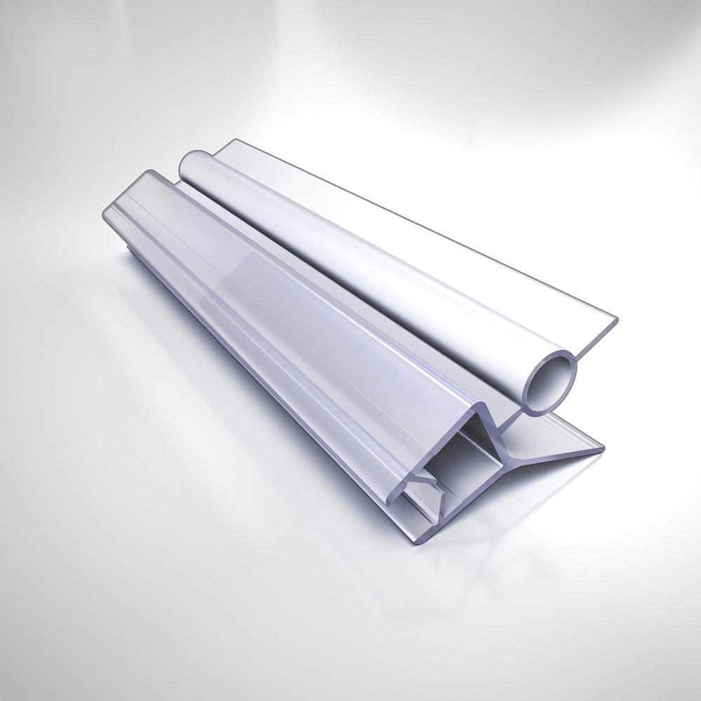 24 in. L Clear Bottom Sweep Vinyl for 3/8 in. Glass Shower Door