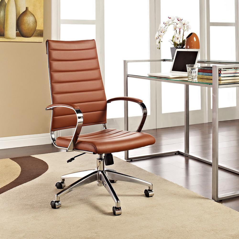 Jive Highback Office Chair in Terracotta