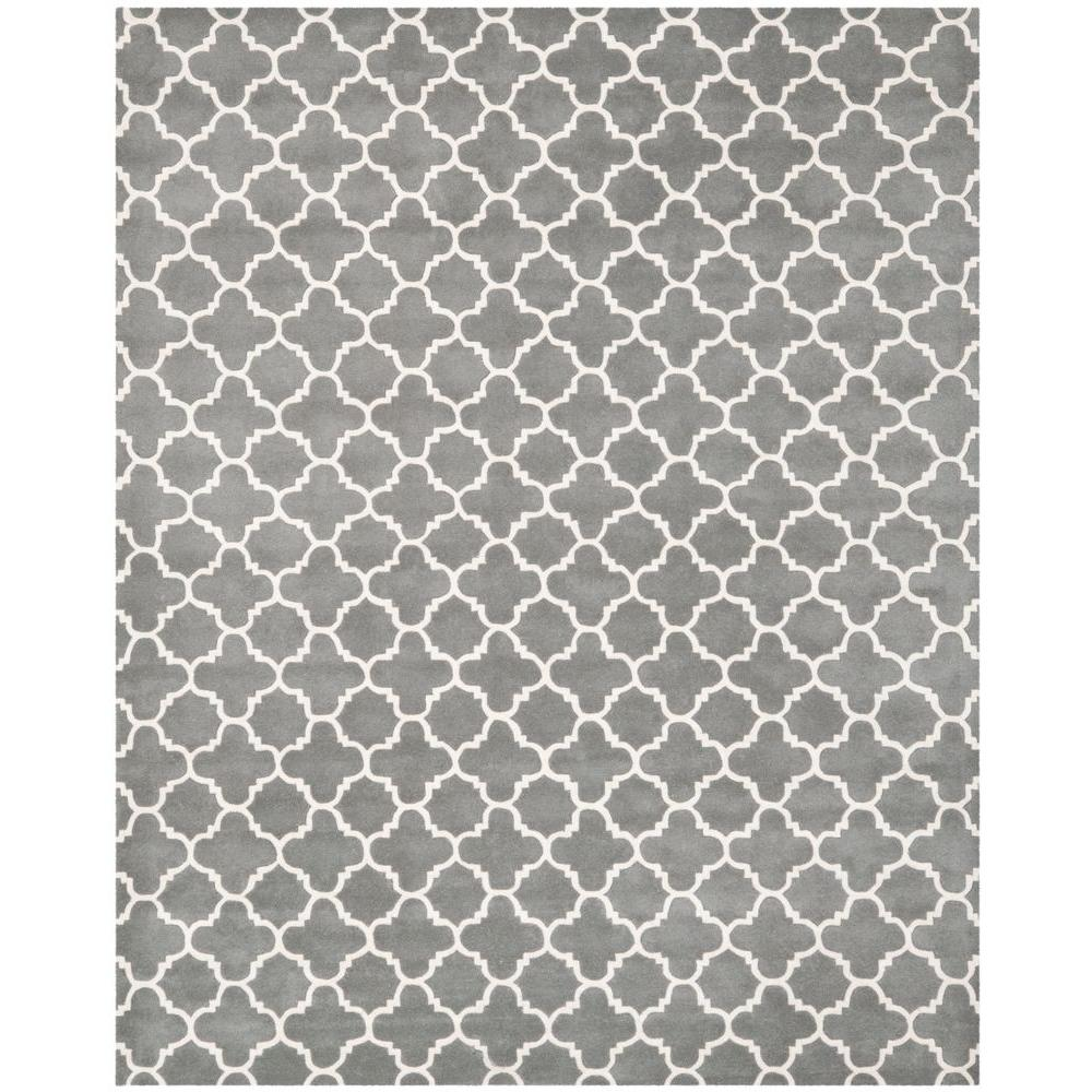 Safavieh Chatham Dark Grey/Ivory 10 ft. x 14 ft. Area Rug