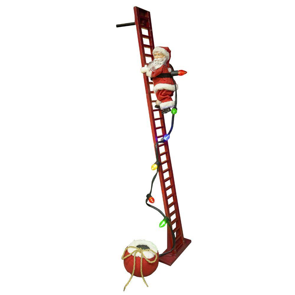mr christmas 40 in super climbing santa - Animated Christmas Decorations Indoor