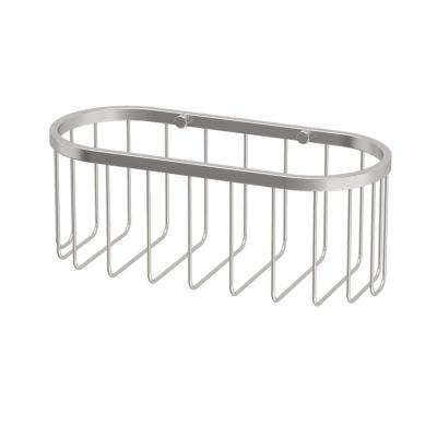 4 in. x 10.5 in. x 4.5 in. Day Spa Caddy - Small in Satin Nickel