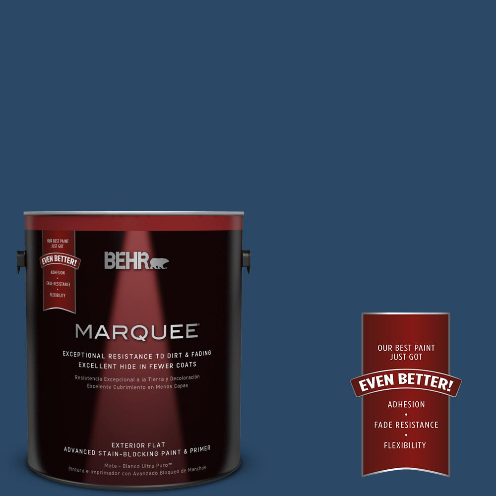 BEHR MARQUEE 1-gal. #580D-7 Deep Royal Flat Exterior Paint