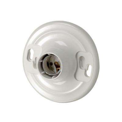 660-Watt Medium Base One-Piece Single Circuit Keyless Outlet Box Mount Plastic Incandescent Lampholder, White