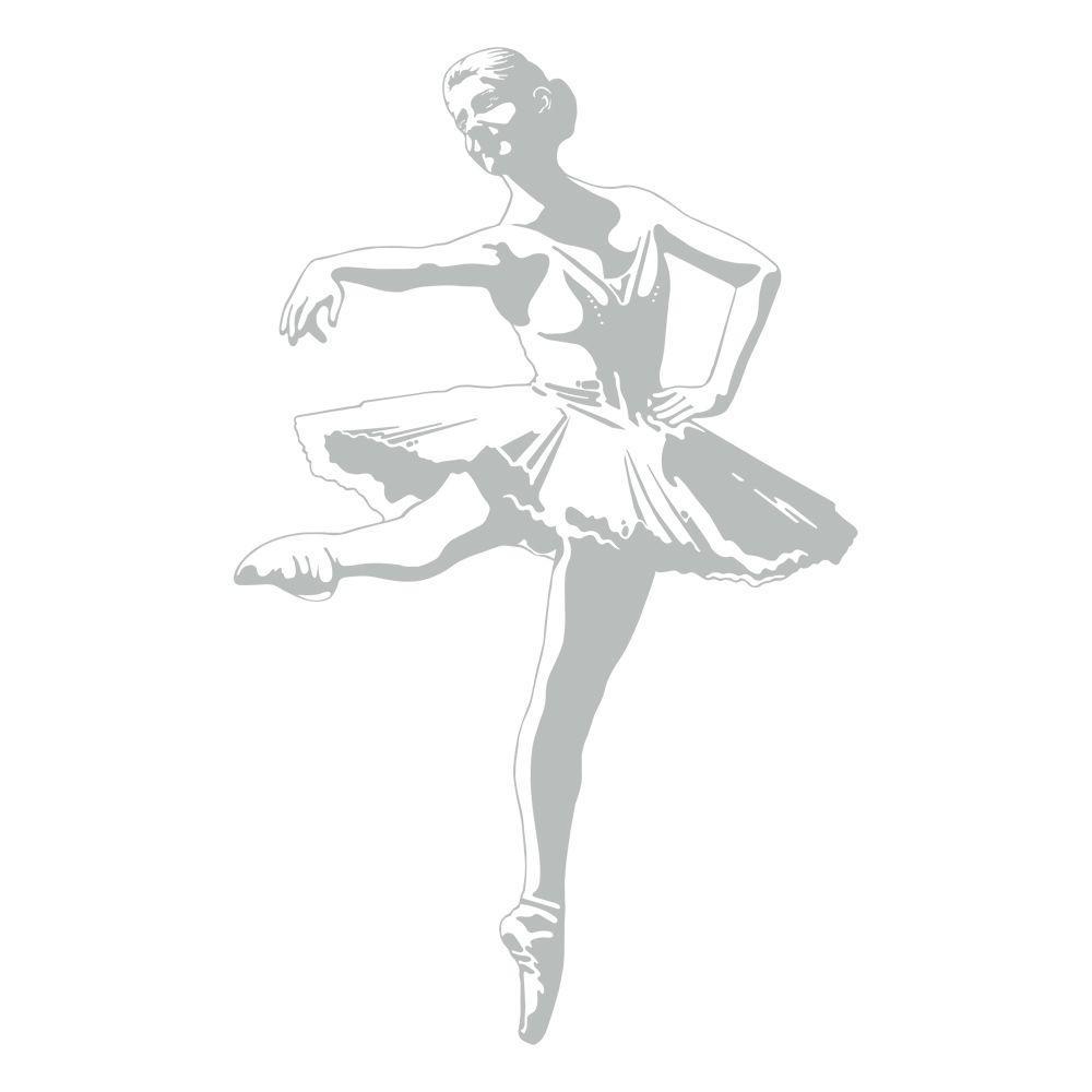 51 in. x 32 in. Ballerina Wall Decal