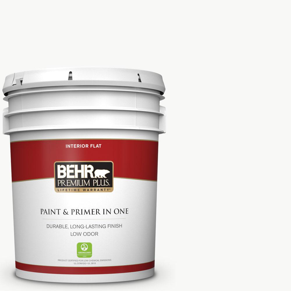 5 gal. Ultra Pure White Flat Low Odor Interior Paint and Primer in One