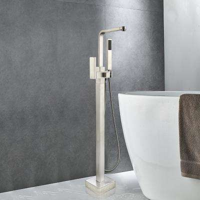 42 in. H x 6 in. W Single-Handle Claw Foot Tub Faucet with Hand Shower in Polished Chrome