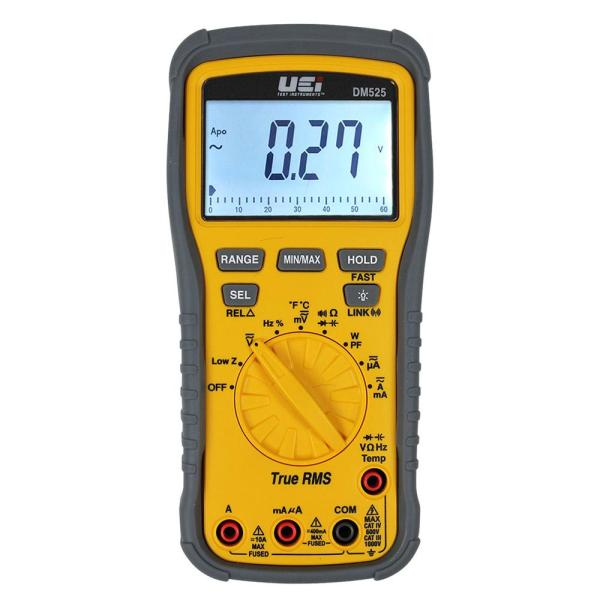 TRMS 1000-Volt Wireless Multi-Meter with Power Factor and NIST Calibration