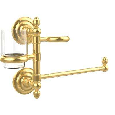 Que New Collection Hair Dryer Holder and Organizer in Polished Brass