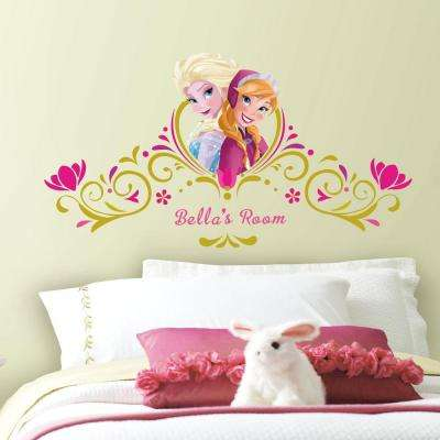 5 in. x 19 in. Frozen SpringTime Custom Headboard 146-Piece Peel and Stick Giant Wall Decal