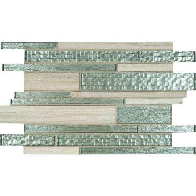 Aria Interlocking 12 in. x 18 in. x 8 mm Glass Stone Mesh-Mounted Mosaic Tile (15 sq. ft. / case)