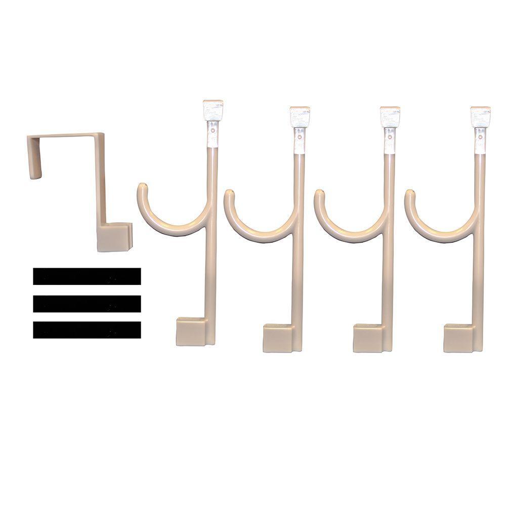 Global Door Controls Over The Door Hanger And 4 Universal Hooks In Sand  Beige