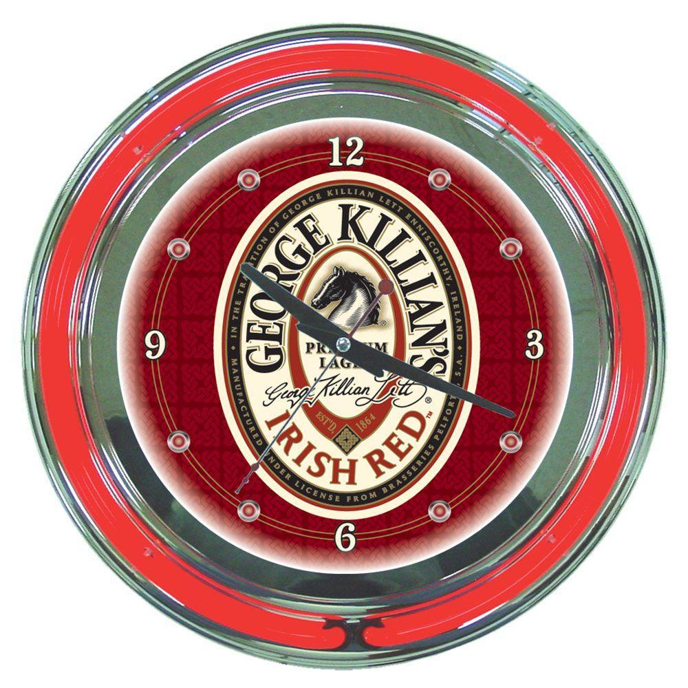 14 in. George Killian's Neon Wall Clock