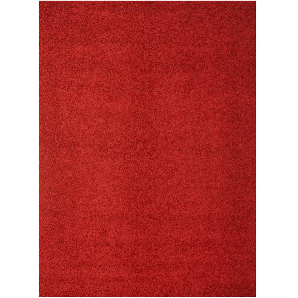 Abacasa Domino Teal Area Rug Reviews: Lanart Comfort Shag Red 5 Ft. X 7 Ft. Area Rug-CSHAG5X7RD