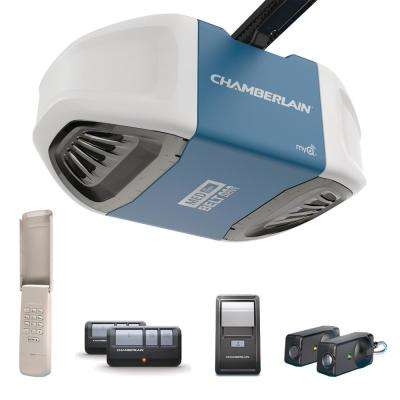1/2 HP Ultra-Quiet and Strong Belt Drive Garage Door Opener with MED Lifting Power
