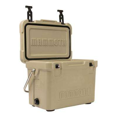 Cruiser 20 Qt. Tan Cooler